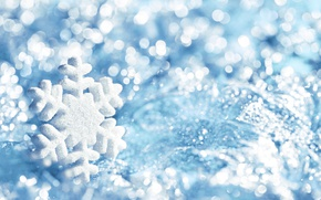 Picture blue, snowflake, winter, snow, snowflake