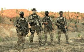 Picture gun, pistol, soldier, weapon, man, rifle, pearls, assault rifle, uniform, seifuku, Special Forces, HK G36, …