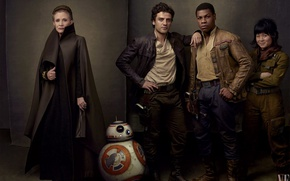 Wallpaper Poe Dameron, droid, John Boyega, BB-8, Kelly Marie Tran, Star Wars: The Last Jedi, The ...