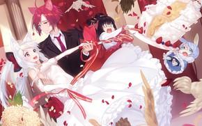 Picture Love, Pair, Cake, Wedding