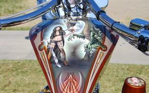 Picture motorcycle, airbrushing, bike, tank