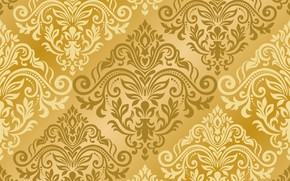 Picture pattern, vector, texture, gold, ornament, with, pattern, ornament, seamless, damask