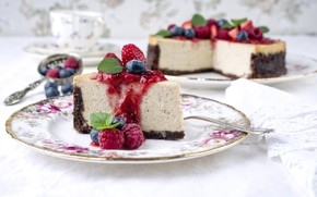 Picture berries, cake, cheesecake