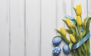 Wallpaper spring, decor, wood, Easter, tulips, blue, tulips, bouquet, tape, holiday, eggs