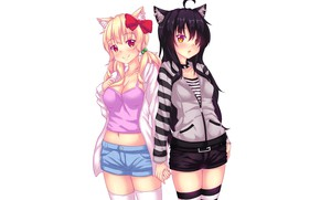 Picture girls, anime, neko