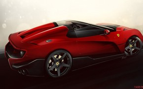 Picture Auto, Machine, Ferrari, Art, Supercar, Rendering, The Ferrari F12, TRS, Yasid Design, Ferrari F12 TRS, ...