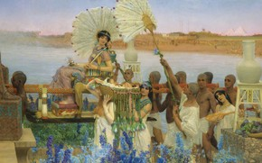 Wallpaper Lawrence Alma-Tadema, Lawrence Alma-Tadema, history, mythology, The Finding Of Moses, picture