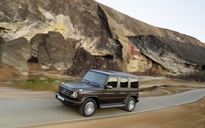 Picture road, rocks, Mercedes-Benz, speed, 2018, G-Class