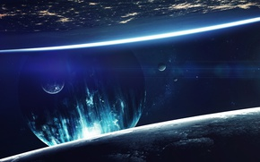 Wallpaper fantasy, sci fi, cosmos, planet