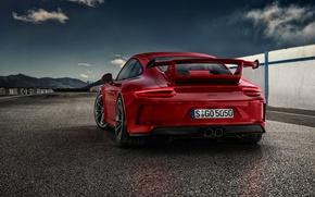 Picture 911, Porsche, spoiler, Porsche, red, GT3