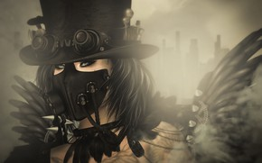 Picture girl, style, Steampunk