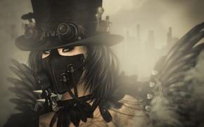 Wallpaper Steampunk, girl, style