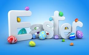 Wallpaper Easter, graphics, Easter, eggs