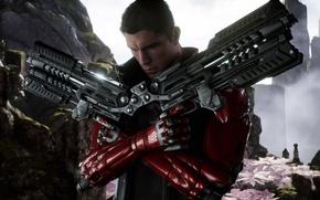 Picture gun, pistol, weapon, man, Paragon, Twinblast