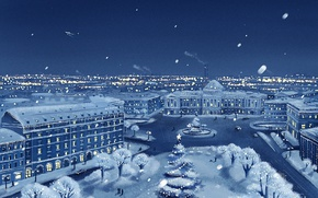 Wallpaper winter, snow, the city, the plane, view, new year, Christmas, christmas, new year, winter, Petersburg, ...