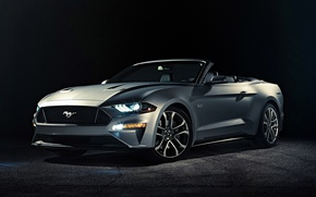 Picture Mustang, Ford, Front, Convertible, 2017