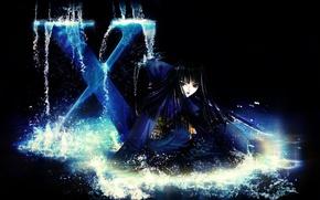 Picture squirt, darkness, Japanese, katana, art, CLAMP, black magic, Arashi Kishua