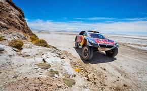 Picture Sand, 2008, Sport, Speed, Race, Peugeot, Lights, Heat, Red Bull, Rally, Dakar, Dakar, Rally, Sport, …