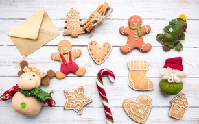 Picture holiday, men, Christmas, decor, caramel, cookies, gingerbread, ginger
