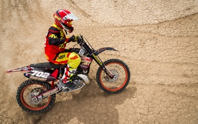 Picture desert, motorcycle, racer