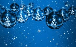 Picture balls, balls, Christmas toys
