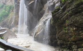Picture gorge, waterfalls, Chegem
