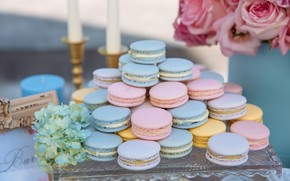 Picture cookies, cakes, hydrangea, macaron