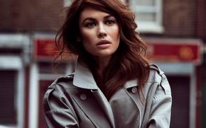 Wallpaper 2016, Glamour, makeup, Olga Kurylenko, bokeh, hairstyle, beauty, actress, brown hair, cloak, Olga Kurylenko, portrait, ...