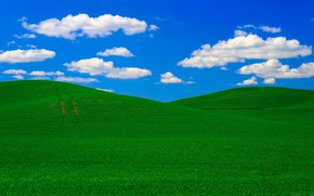 Picture field, the sky, clouds, hills, USA, Washington