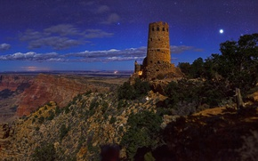 Picture AZ, USA, Grand Canyon National Park, watchtower