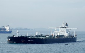 Picture sea, ship, a liquefied gas carrier