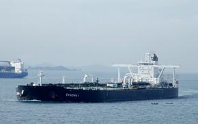Wallpaper sea, ship, a liquefied gas carrier