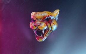 Picture The game, Tiger, Miami, Tony, Hotline Miami, Tony, Darkwave, Retrowave, Synthwave, Hotline, By Oleg Knyazev