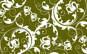 Picture pattern, ornament, design, green background, pattern