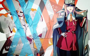 Wallpaper being, background, girl, Darling in the FranXX