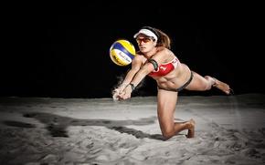 Wallpaper sand, the ball, sport
