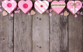 Picture love, hearts, love, wood, pink, romantic, hearts