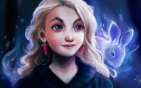 Picture art, Harry Potter, Luna Lovegood, by Ludmila-Cera-Foce