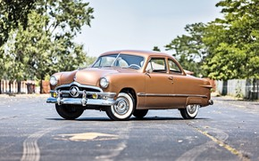 Picture coupe, 1950, Ford Deluxe, old american retro car