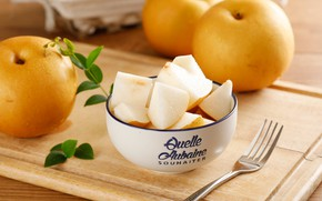 Picture apples, pieces, bowl