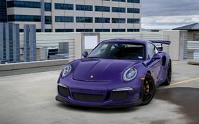 Picture Porsche, parking, GT3RS, roof