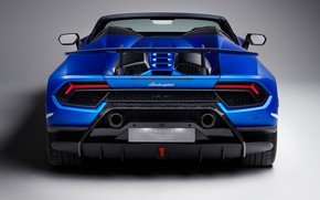Picture Lamborghini, rear view, Spyder, 2018, Performante, Huracan