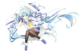 Picture anime, art, girl, animal, Vocaloid