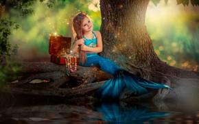 Picture nature, mermaid, girl