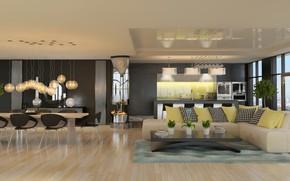 Wallpaper design, table, sofa, living room, chairs, pillow, living room, design, interior, table, interior, sofa