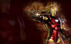Picture fantasy, armor, Iron Man, Marvel, comics, digital art, artwork, superhero, fantasy art, pearls, technology
