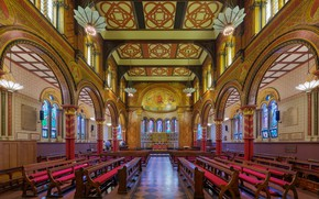 Picture interior, London, UK, Diliff, King's College London Chapel