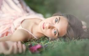Picture portrait, girl, bokeh, Meg Bitton