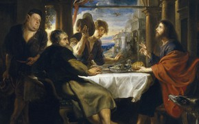 Picture picture, Supper at Emmaus, Peter Paul Rubens, mythology, Pieter Paul Rubens