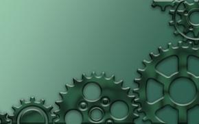Picture greens, stars, art, gear, stars, art, background, stars, gears, anthracite, scumbria, transfer, dark turquoise